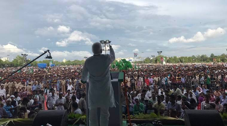 RJD Patna Rally LIve, Live updates, Indian Express Live, Lalu Yadav, India
