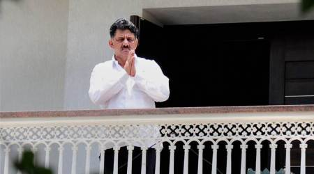 Karnataka minister Shivakumar appears before IT department