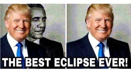 Donald Trump gets roasted for retweeting anti-Obama Eclipse meme on Twitter