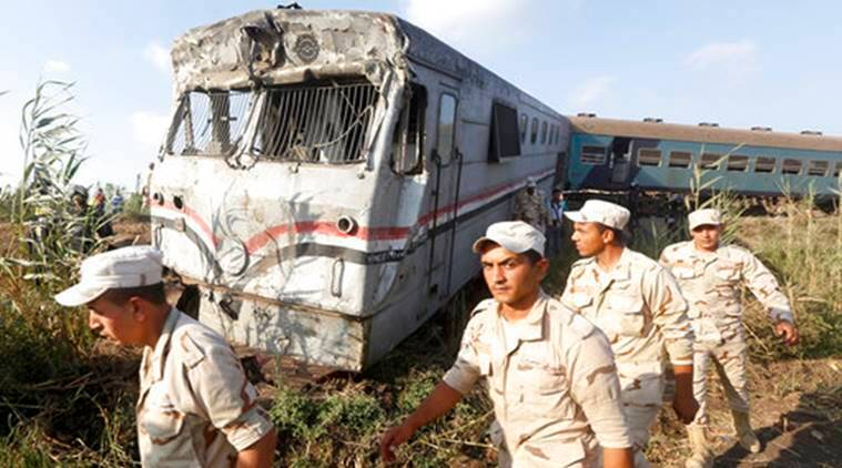 Image result for Egypt: 44 killed, 180 wounded in train collision in Alexandria
