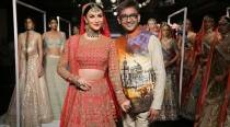 LFW Winter/Festive 2017 Day 4: Elli Avram turns into a gorgeous bride for designer Manoj Agarrwal