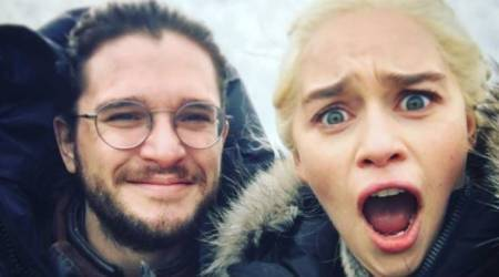 Game Of Thrones actor Emilia Clarke's video of Kit Harrington trying to fly like a dragon is a must watch
