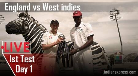 Eng vs WI Live, 1st day-night Test, Day 1