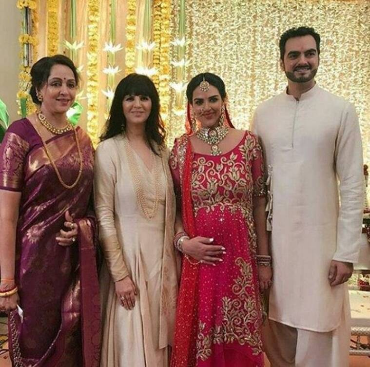 Esha Deol looks gorgeous in red at her baby shower, see pics