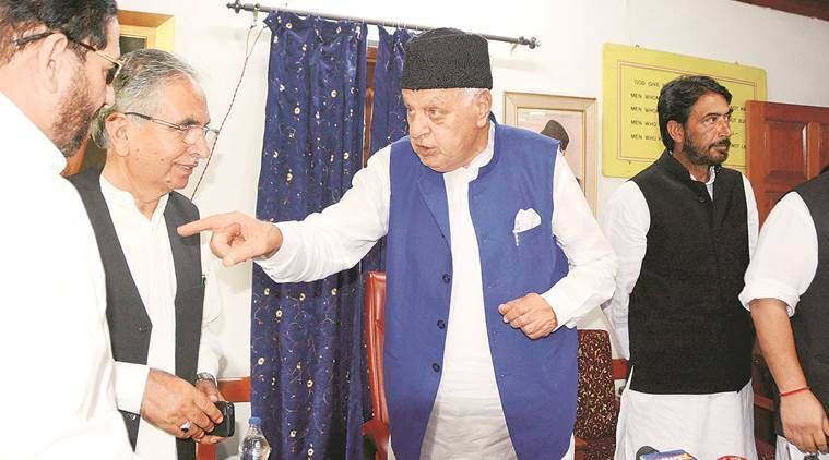 farooq Abdullah, Opposition, NC, National Conference, Indian Express, Politics, India news