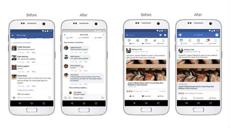 Facebook News Feed updated new comment style, larger icons