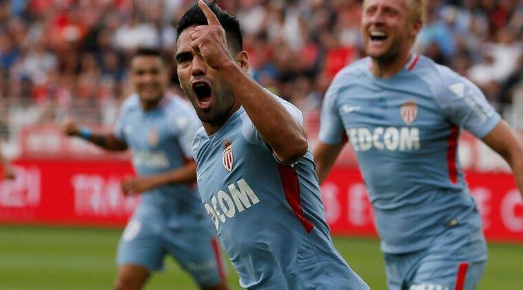 radamel falcao scores again as monaco win at metz in french league the indian express. Black Bedroom Furniture Sets. Home Design Ideas