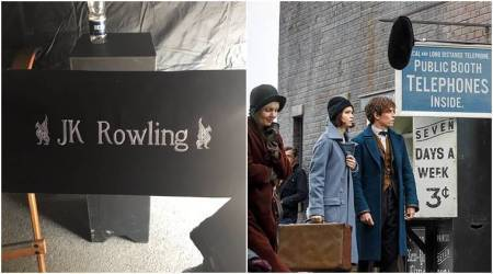 J K Rowling teases fans with photos from the sets of Fantastic Beasts sequel