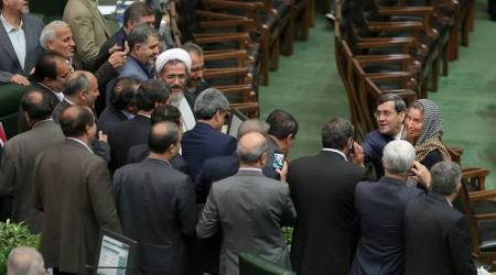 Iran papers slam MP 'selfies of humiliation' with EU diplomat Federica Mogherini