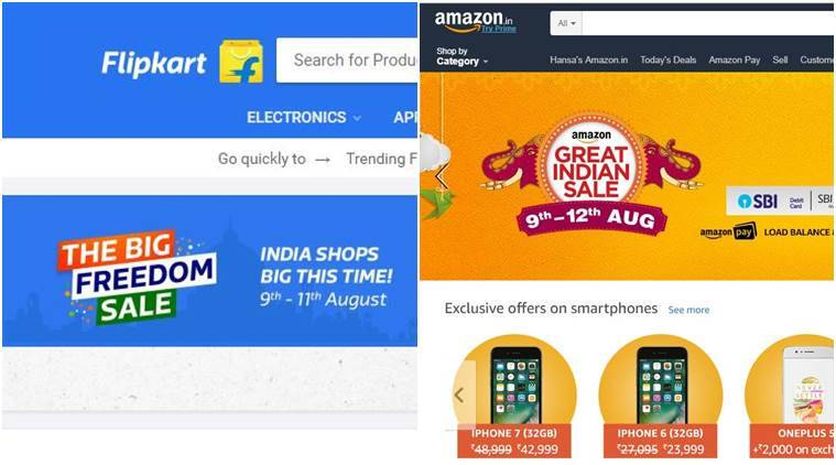 Amazon, Flipkart, Amazon Great Indian Sale, Flipkart Big Freedom sale, Apple iPhone discounts