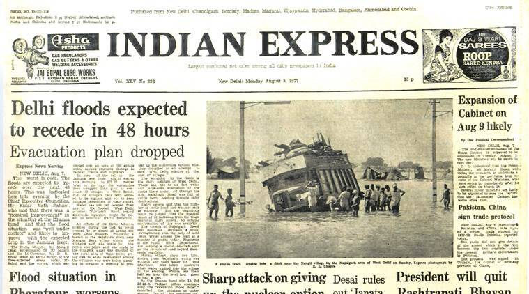 forty years ago, indian express archives, Indira Gandhi, Indian history, archives, India news, Indian express