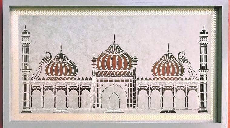 paper art, sanjhi paper art, sanjhi stencil art, art and culture, indian express news