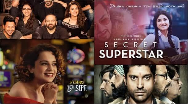 bollywood clashes 2017, secret superstar, simran lucknow central, golmaal again