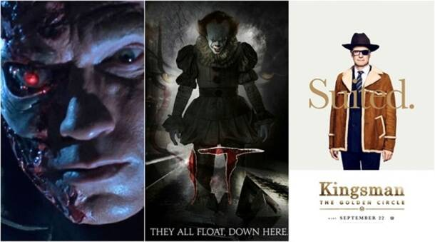 September movies, top september hollywood movies, september hollywood movies, it, terminator 2 3d, kingsman the golden circle
