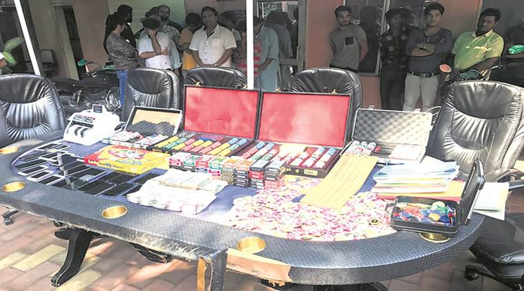 delhi gambling racket, delhi police, gk 1 jua fraud, lajpat nagar, greater kailash, delhi news, indian express