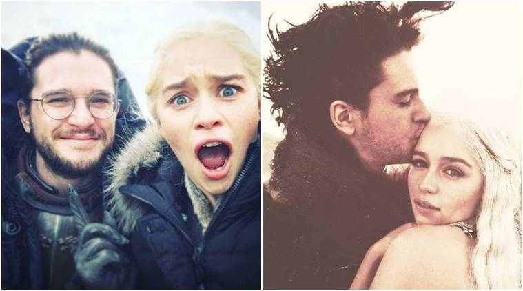 game of thrones, daenerys targaryen, jon snow, kit harington, emilia clarke