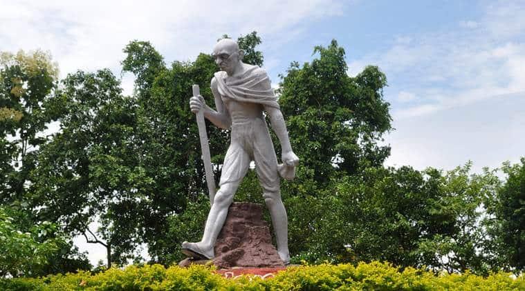 Ramkinkar Baij, Mahatma Gandhi statue, guwahato gandhi statue, gandhi bronze statue, gandhi mandap, indian express news, india news