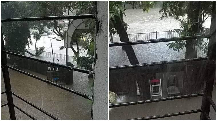 mumbai rains, mumbai weather, rains in mumbai, mumbai monsoon, mumbai rainfall, mumbai rain, waterlogging mumbai, weather in mumbai, bombay rains, imd, imd satellite image, bombay, mumbai trains, mumbai, bombay, indian express news