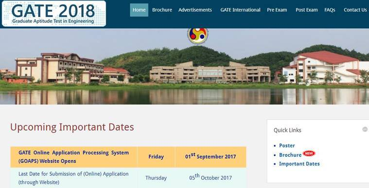 GATE, GATE 2018, gate.iitg.ac.in, iit, iit guwahati, GATE 2018 eligibility, GATE 2018 apply online, GATE exam dates, education news, indian express