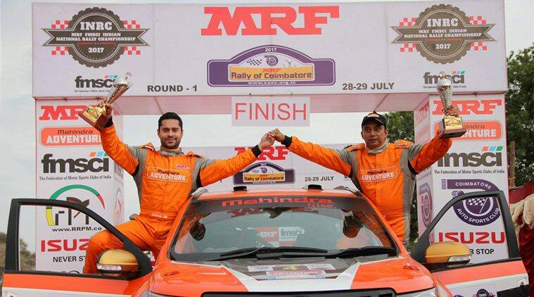 gaurav gill, gill, International Rally of Johor, FIA Asia Pacific Rally Championship, Ole Christian Veiby, mrf, sports news, indian express