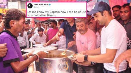 Gautam Gambhir starts 'community kitchen' to help the poor; Shah Rukh Khan, Twitterati shower love