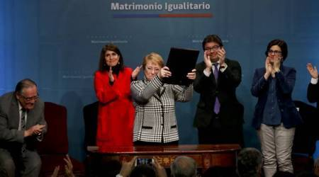 Chile's President Michelle Bachelet presents gay marriage bill