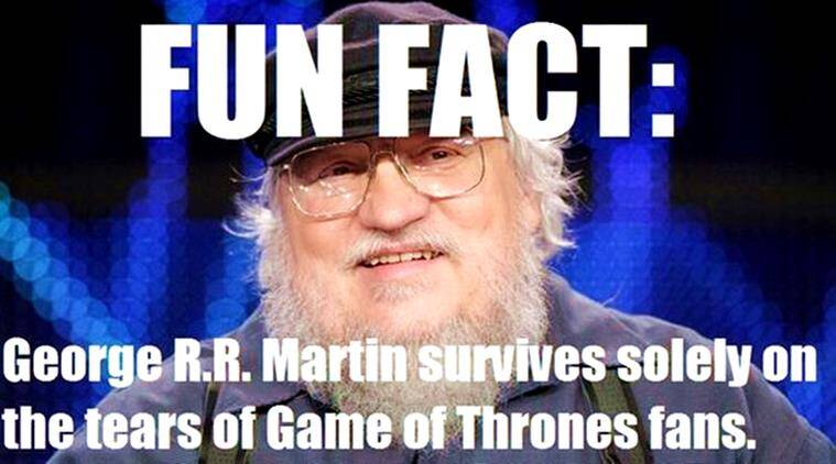 george rr martin, game of thrones, game of thrones the winds of winter, the winds of winter, george rr martin book, got tv series, got book, indian express, indian express news