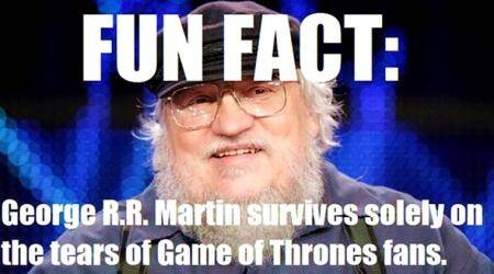 George RR Martin's publishers REFUSED to recognise him, and Twitterati can't stop makingjokes