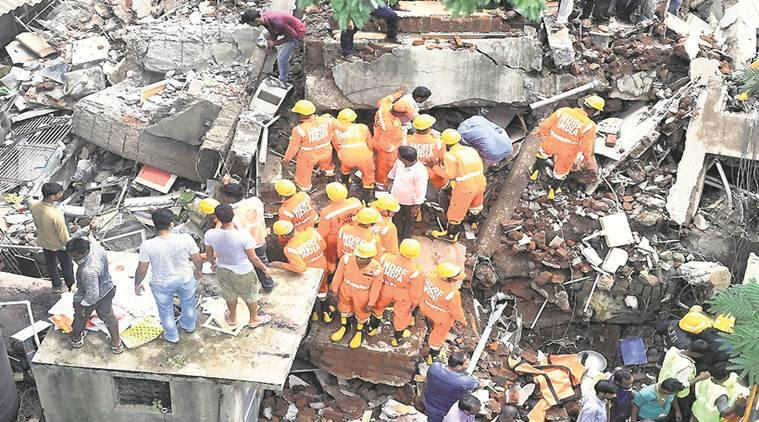 Ghatkopar building collapse case, Brihanmumbai Municipal Corporation (BMC), Siddhi Sai Apartments Ghatkopar, Ajoy Mehta, Devendra Fadnavis, Mumbai News, Indian Express News
