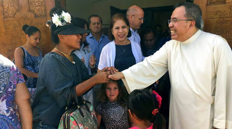 Catholic Guam, Roman Catholic Guam, Pastor Fr. Jose Antonio, North Korea Threat, Guam Crisis, World News, Latest World News, Indian Express, Indian Express News