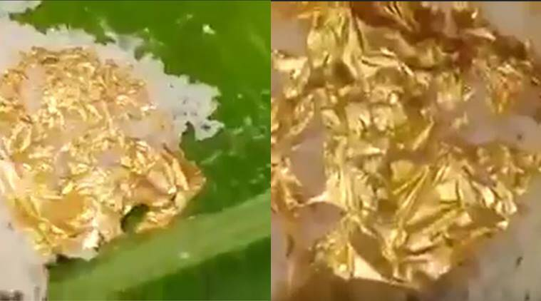 gold, gold rice, hyderabad, hyderabad gold rice, gold in food, gold leaf food, ediable gold, food news, viral news, india news, indian express, lifestyle news
