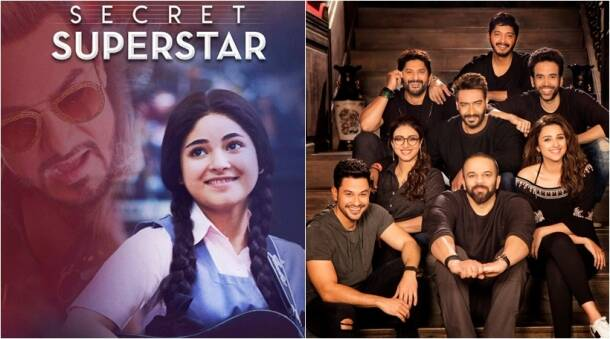 box office clashes, bollywood clashes, secret supersta poster, golmaal again poster, secret suprstar golmaal clash