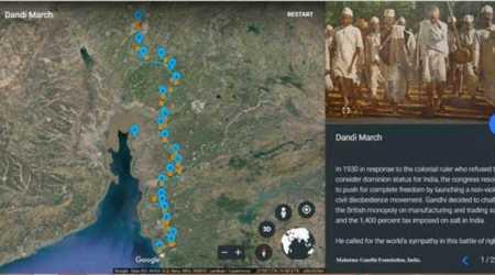Google, Google Earth, Voyager, Dandi March, Dandi March story Voyager