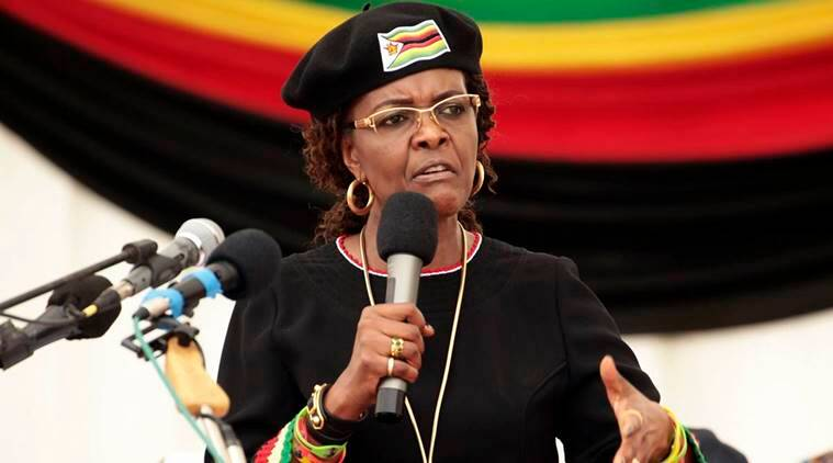grace mugabe, zimbabwe first lady, south africa, diplomatic immunity, grace mugabe arrest, indian express