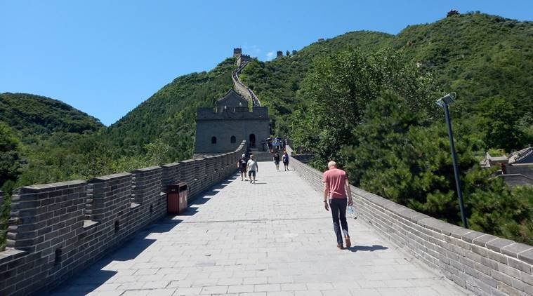 great wall of china, great wall of chin cameras, great wall of china protection, great wall of china scribbling, UN world heritage site, china