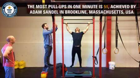Fitness buff creates Guinness World Record for most pull-ups in a minute