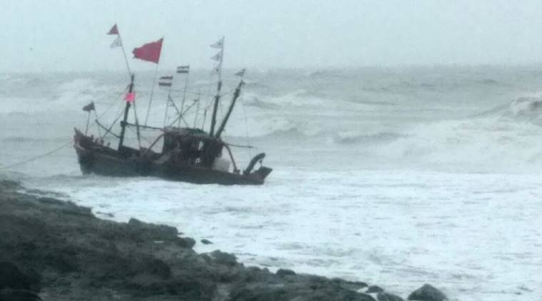 Gujarat coast, fishermen rescued, gujarat rescue operation, indian express news, india news