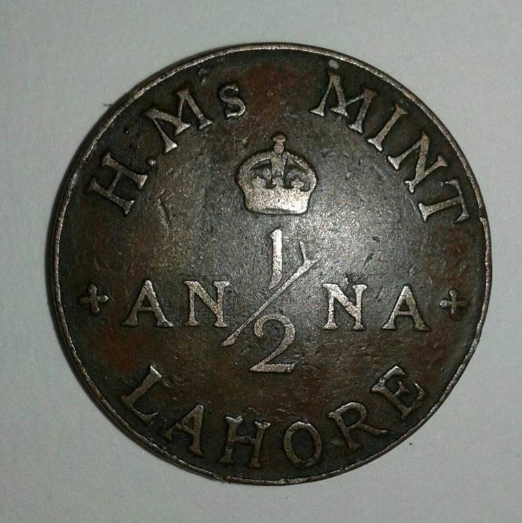 rare indian coins, half anna coin, old pakistani coins, india pak partition, indian antiques, independence day, india at 70, india news, indian express news