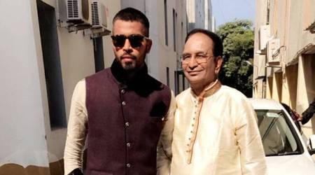 hardik pandya, pandya father, india tour of sri lanka 2017, pandya gifts dad, cricket, sports news, indian express