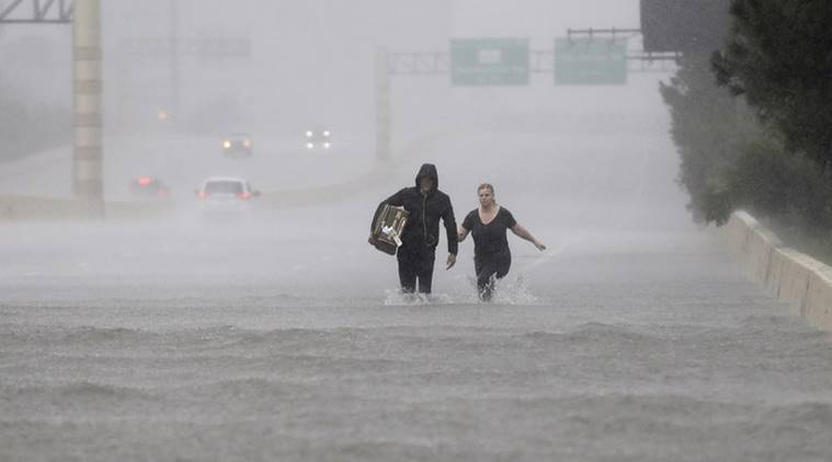Houston, Houston airport closed, hurricane harvey, harvey, Houston airport waterlogged, indian express