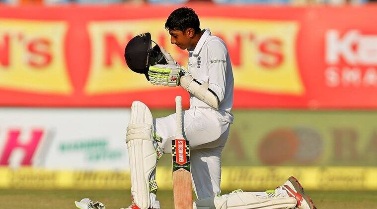 Haseeb Hameed, Haseeb Hameed half-century, sports news, cricket, Indian Express
