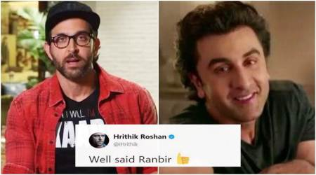 Hrithik Roshan is all praise for Ranbir Kapoor. Here's why