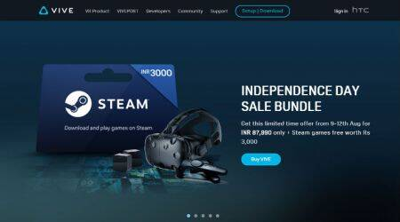 Independence Day Sale: HTC VIVE at Rs 87,990, free Viveport subscription, and more