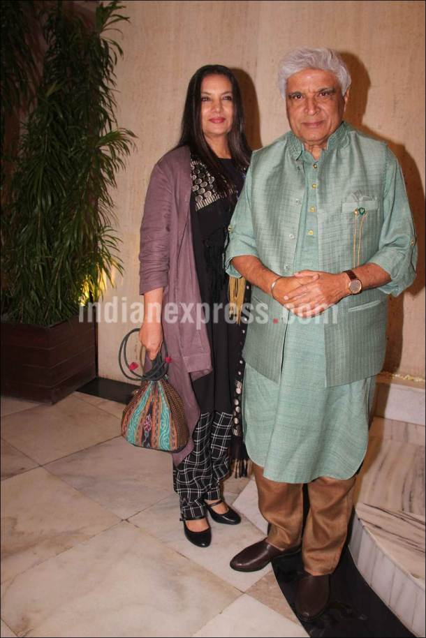 Javed Akhtar, Javed Akhtar shabana azmi, shabana azmi photos, sridevi birthday photos