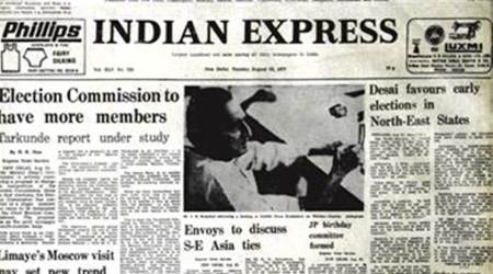 Indian Express Forty Years Ago, Express Forty Years, Election Commission, Morarji Desai government, USSR, Sri Lanka, Madhu Limaye, India News, Indian Express, Indian Express News
