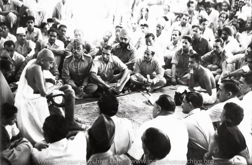 indian national army, mahatma gandhi, jawaharlal nehru