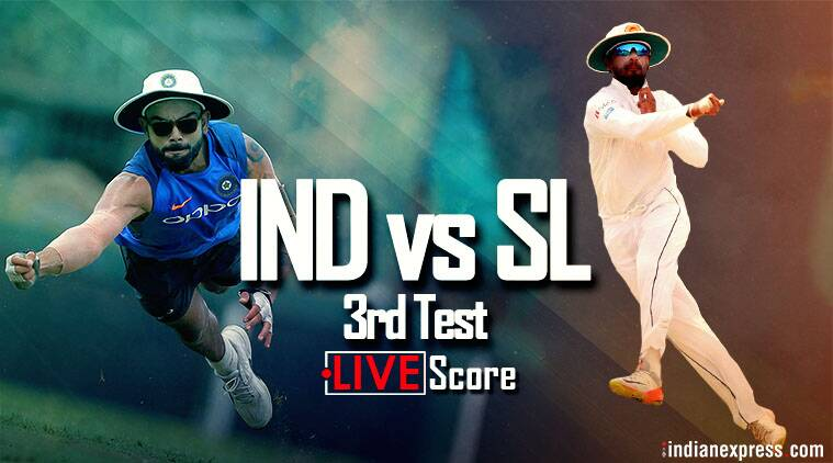 Live Cricket Score India vs Sri Lanka 3rd Test Day 3: India on top against Sri Lanka