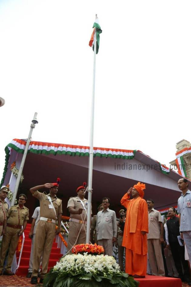 Independence Day celebrations, Independence day pics, uttar pradesh independence day celebration, yogi adityanath, independence day celebrations, india news