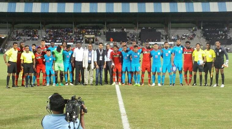india vs st kitts and nevis, st kitts and nevis, stephen constantine, constantine, asia cup, Manvir Singh, Nikhil Poojari, Amrinder Singh, jhingan, football, sports news, indian express