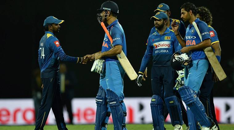 India vs Sri Lanka, Virat Kohli, MS Dhoni, Bhuvneshwar Kumar, Akila Danajaya, sports news, cricket, Indian Express